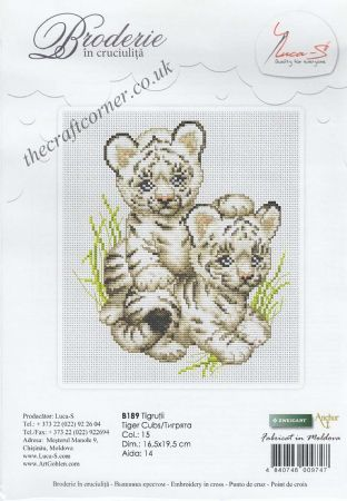 Tiger Cubs Counted Cross Stitch Kit From Luca-S